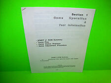 Williams JOUST 2 Original 1986 Video Arcade Game Service Operation Test Manual