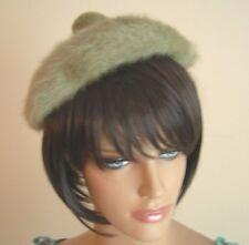 Vintage Women's Green Angora Like Tam Beret Hat by Kangol Design