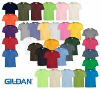 Gildan Kids Childrens Heavy Cotton Plain Taped neck T-Shirts 100% Cotton