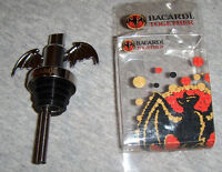 Bacardi Rum Bat Pourer New Metal NIP Liquor Bottle Pourer