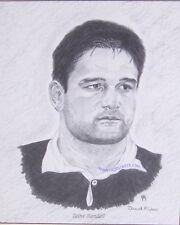 Taine Randell tutti neri originali d'arte Rugby Coppa del mondo