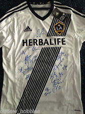 2014 LA Galaxy 18 x Team Signed Autographed MLS Soccer Replica Jersey COA