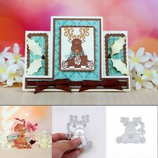 Christmas Deer Metal DIY Cutting Dies Stencils Scrapbooking Photo Album Craft