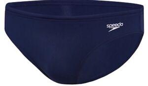 Speedo JUNIOR Boys Endurance Brief AUS Size12 Navy Blue - New With Tags