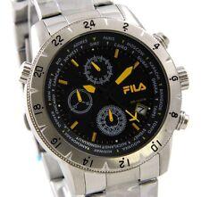 FILA Herren Uhr Chronograph 38-007-003 FILAcasual Edelstahl schwarz UVP*239,00 €