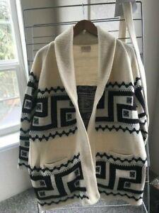 Vintage Sturbridge Cowichan Tribal/Aztec Cardigan Sweater  w/ Belt Size M/L