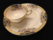 c 1920's Lenox China THE ORCHARD Luncheon Plate & Cup Teacup ART DECO