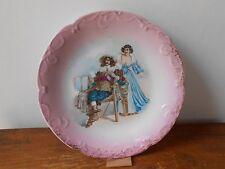 Ancien plat assiette porcelaine décorative..28,5 cm Limoges.Vintage plate dish