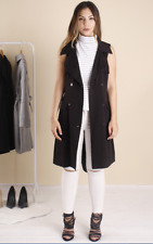 LEVORA SIZE 6   BLACK  SLEEVELESS  TRENCH  COAT  RRP $89  BRAND NEW WITH TAGS,