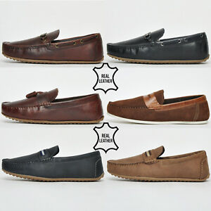 REAL LEATHER Red Tape Slip On Loafer Casual Driver Designer Slip On Shoes