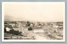 Ensenada Baja California RPPC Antique Photo Postcard~Railroad~Tarjeta Foto~1930s