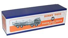 Riproduzione DINKY BOX 505 FODEN piatto CAMION CON CATENE (905) 1st CAB