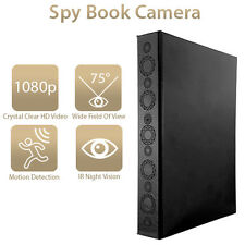 Portable Hidden Spy Book 1080P Camera, Home Security w/ Night Vision BC50 Style