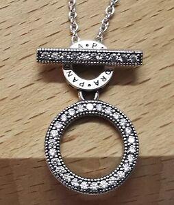 Pandora 399039C01 Doppelte Kreise Halskette mit T-Verschluss S925