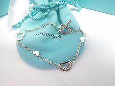 "Tiffany & Co. Silver Hearts Toggle Bracelet 7"""