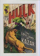 Hulk #109 - Herb Trimpe Art Kazar! - 1968 (Grade 6.5) Wh
