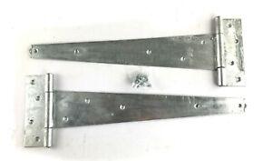 "Tee Hinges Weighty Scotch 16"" 400mm Galvanised Heavy Duty Shed Door Gate Hinge"