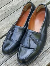 Allen Edmonds Newport Men Slip-On Black Leather Tassel Kiltie Dress Loafers 15 D