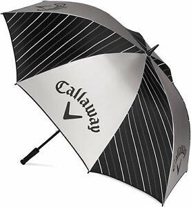 """Callaway Golf UV Umbrella 64"""" - Black/Silver/White - New 2021"""