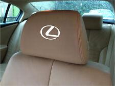LEXUS LOGO CAR SEAT / HEADREST DECALS - BADGE - Vinyl Stickers - Graphics X5
