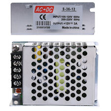 DC 12V 3A  Universal Regulated Switching Power Supply Transformer For LED Strip