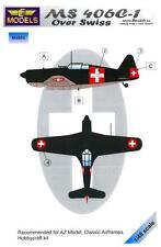 LF Models 1/48 MORANE SAULNIER MS 406C-1 OVER SWITZERLAND Camouflage Paint Mask