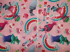 """New Cotton Quilt Squares Fabric 44"""" Wide Bty Fat Quarter Look Trolls"""