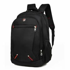 Men's Backpack Multi-functional Large-capacity Oxford Material Black Schoolbag