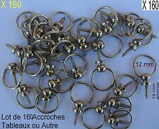 Envi 160 Crochet Bélière Laitonné,Accroche Tableaux,Cadre,Ø int 12 (1/2 Kg envi)