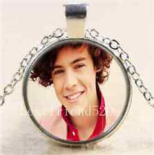 One Direction Harry Cabochon Glass Tibet Silver Chain Pendant Necklace