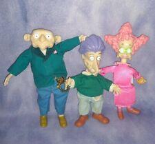 RARE Rugrats Stu, Didi & GRANDPA BORIS Doll Figure Toy Lot Tommy Mom & Dad