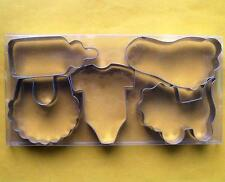 Baby Shower Cookie Cutter Clothes Bottle Bib Fondant Steel Baking Mold set