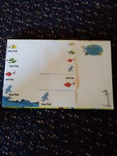 Free Shipping! One Fish Two Fish Red Fish Blue Fish Post It Notes Set