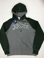 Champion Men's Michigan State Spartans Hoodie Fleece Lining Large Gray