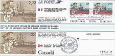 cpjc31 carte souvenir canada france