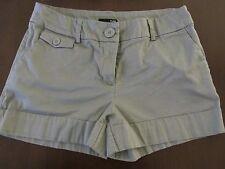 """DONNA H&M """" Corto """" Shorts Taglia 8 Grigio / Khaki Colore 30 """" Girovita - 3 """""""