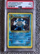 Pokemon Base 1999 Shadowless #13  Poliwrath H13/102 Holo PSA 9