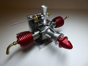 NEW Retro Ref Fin TWIN FIN Rare Model Diesel Engine For Model Aircraft & Planes