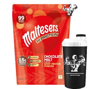 Maltesers Hi Protein Powder Chocolate Malt Flavour Whey Protein 450g & SHAKER
