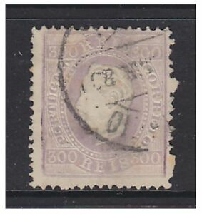 Portugal - 1876, 300r Lilac (Postmark is 1883) stamp - G/U - SG 100