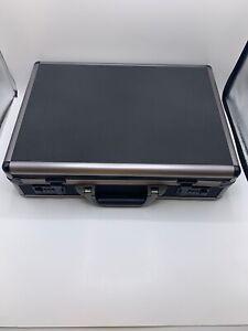 Bugatti ATC0103 Itala Aluminum Hard Case Padded Office Laptop Black Briefcase