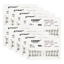 10 Sets Dental Orthodontic Brackets Standard Roth 022 Slot 3-4-5 Hooks AZDENT US