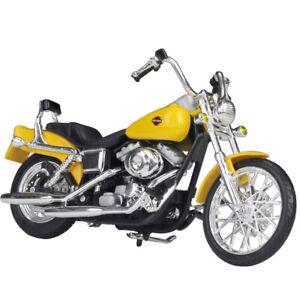 Maisto 1:18 Harley Davidson 2001 FXDWG Dyna Wide Glide Bike Motorcycle Model NIB