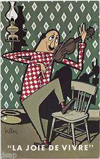 LA JOIE DE VIVRE Montreal Canada Comic 3 Postcards Set Brillon signed
