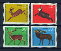 ALEMANIA BERLIN GERMANY 1966 MNH SC.9NB37/40 Deers