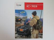 Icom - 703 (authentique brochure seulement)... radio _ Trader _ Irlande.