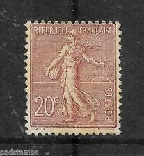 FRANCE 1903 20c purple brown Sower with ground vf MINT hinged SG 317