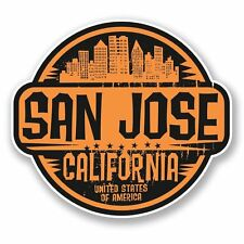 2 x San Jose California USA Vinyl Sticker Laptop Travel Luggage Car #6065