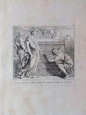 Disegno del BOURDON   acquaforte XVIII sec. Cabinet Bernard PICART