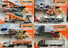 2020 Matchbox Convoys Diecast Metal Trucks Tesla Rocket Transporter